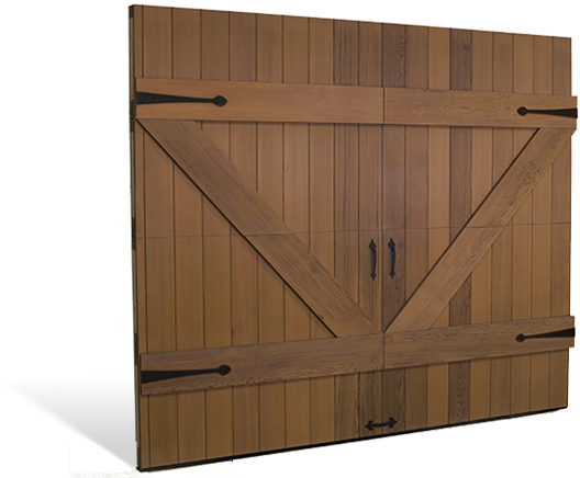 Cocoa Wood Carriage Style Doors Overhead Door Of America